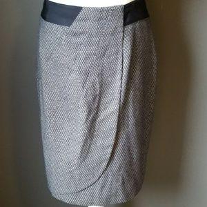 ANTONIO MELANI tweed mock wrap skirt
